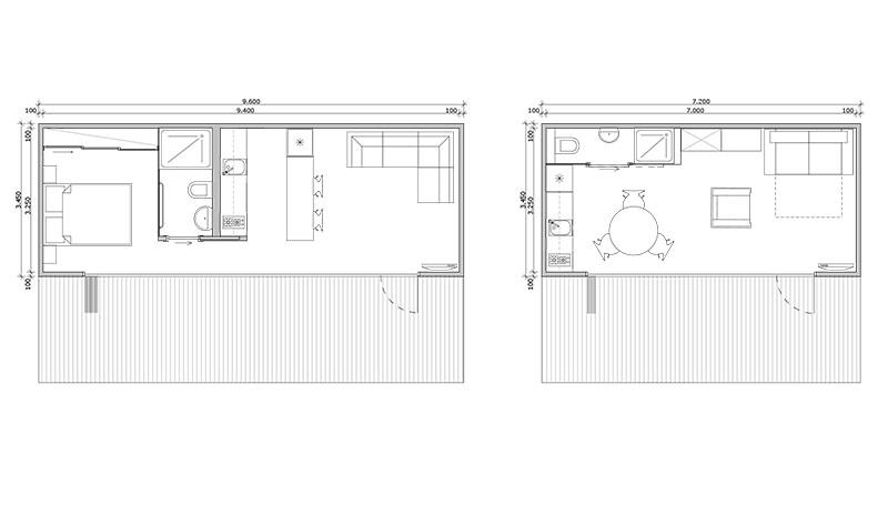 Designer granny flats images for Floor plan granny flat